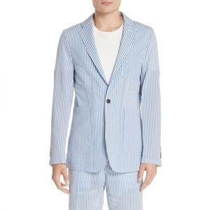 BURBERRY Serpentine Seersucker Sport Coat Blazer